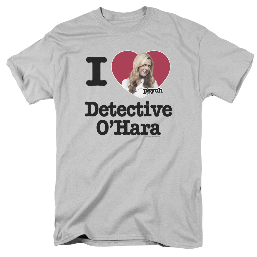 Psych I Heart O'Hara Mens Short Sleeve Shirt