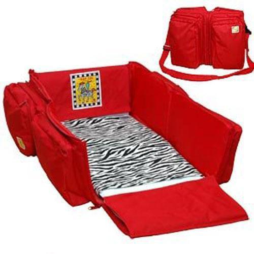 Triple Play 7501RZ - 3-n-1 Diaper and Travel bag - Red Zebra
