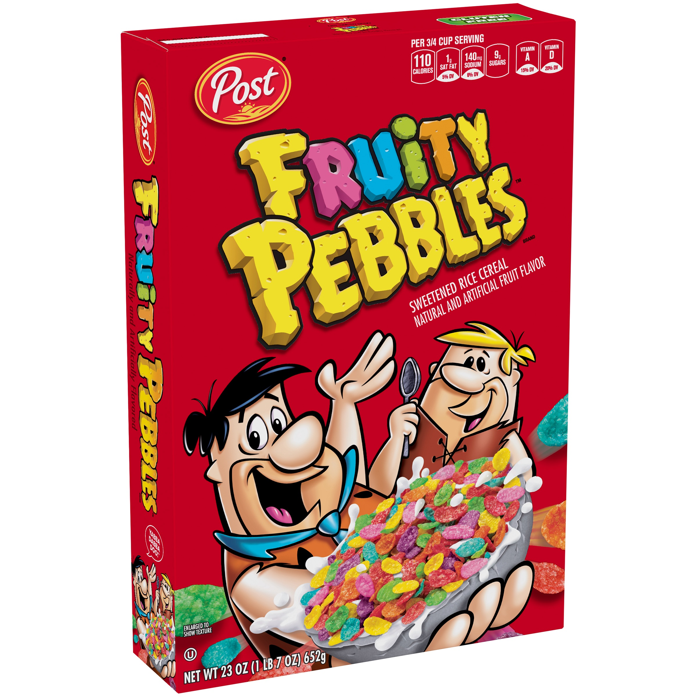 Post Fruity Pebbles Gluten Free Breakfast Cereal, 23 Oz