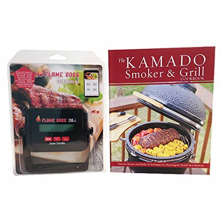 Flame Boss 200 Wifi Kamado Grill   Smoker Temperature Controller With Free Kamado Smoker And Grill Cookbook