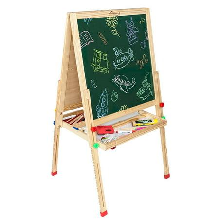 UBesGoo Adjustable Height Double Sided Kids Drawing Chalkboard Blackboard Easel - Chalkboard Kids