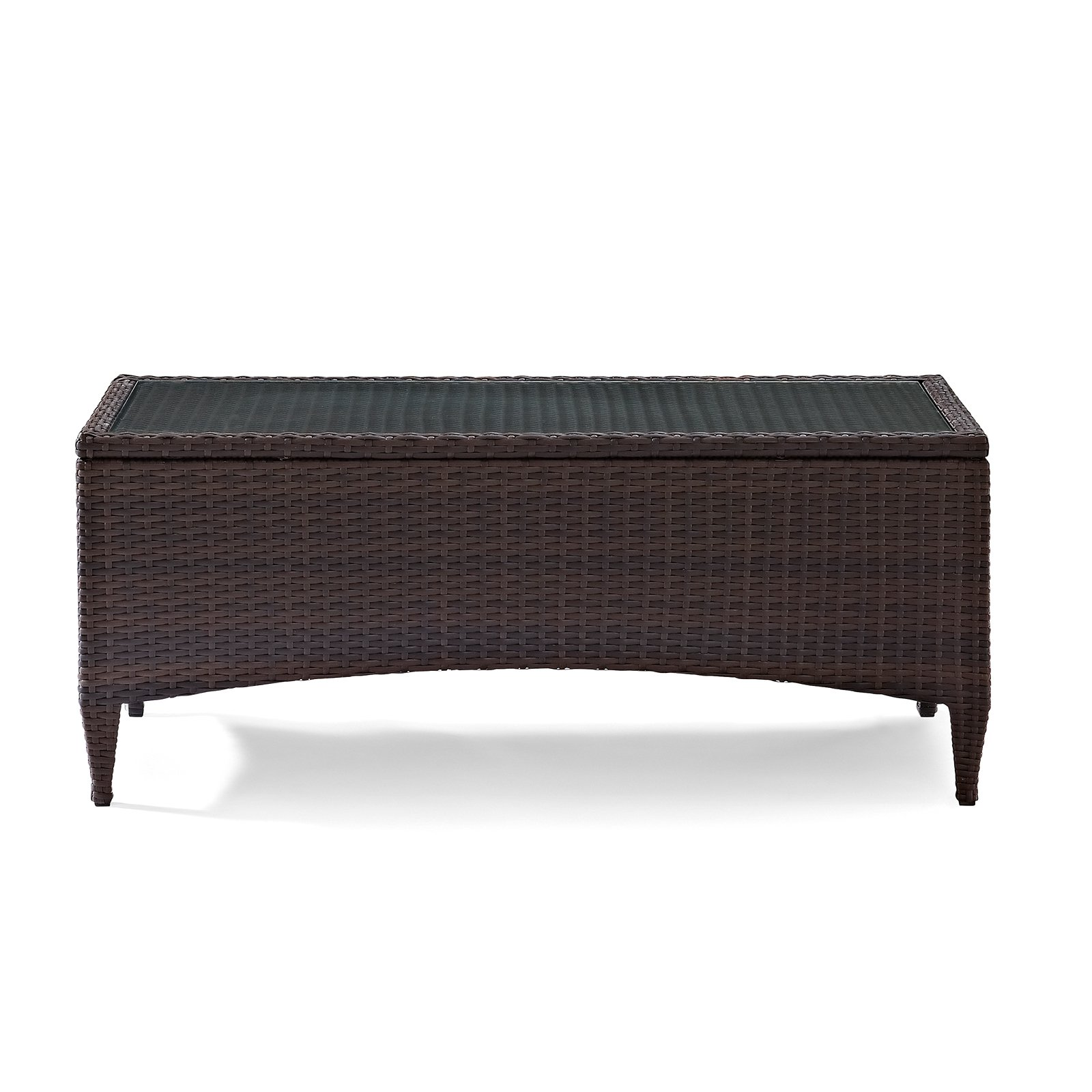 crosley furniture kiawah outdoor wicker glass top table walmart com rh walmart com