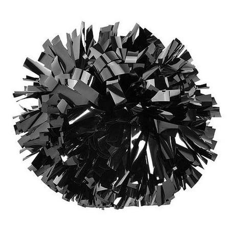 Pizzazz Metallic Black Cheer Single Pom Pom - Pom Poms Cheer