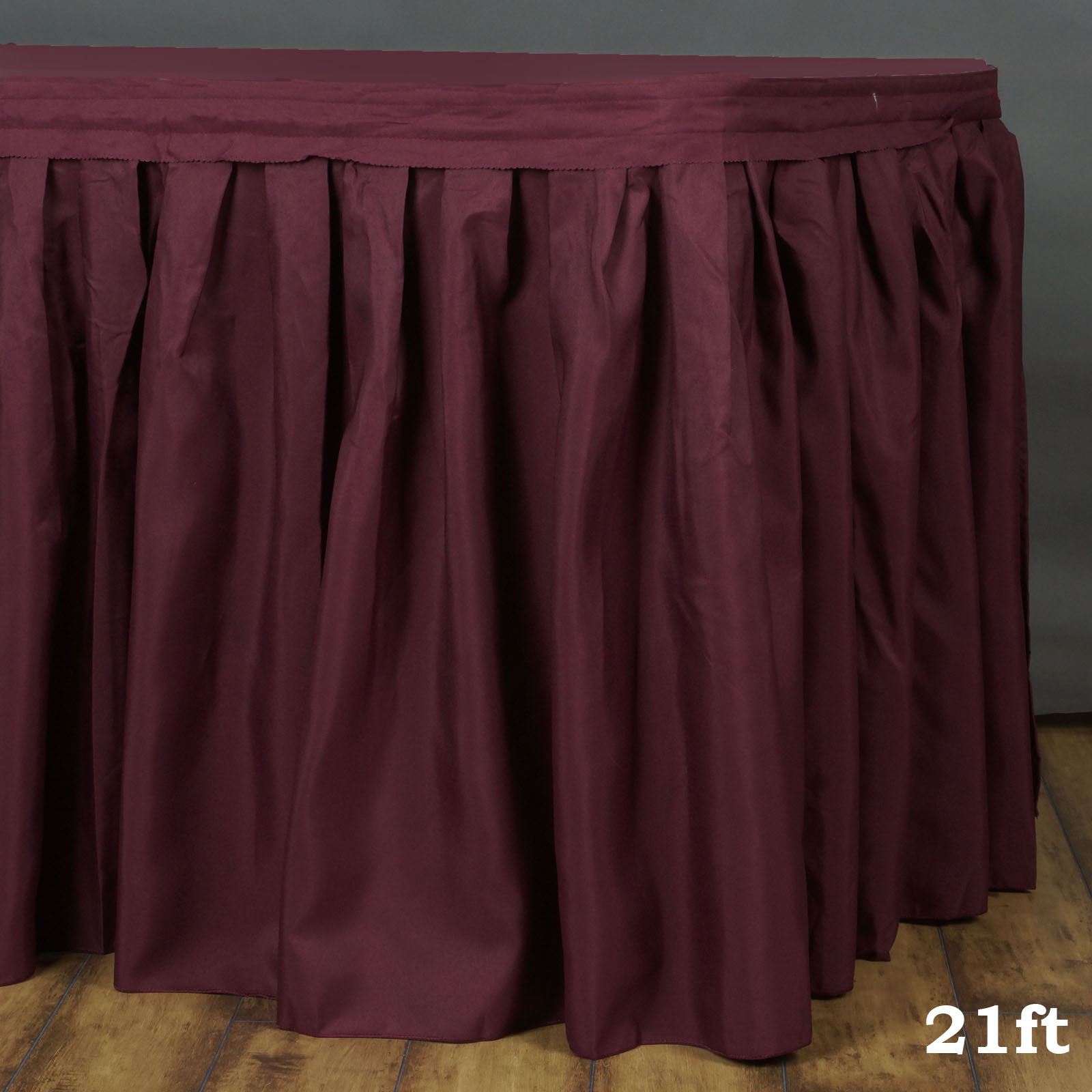 Efavormart Accordion Pleat Wholesale Polyester Table Skirt for Kitchen Dining Catering Wedding Birthday Party Decorations Events