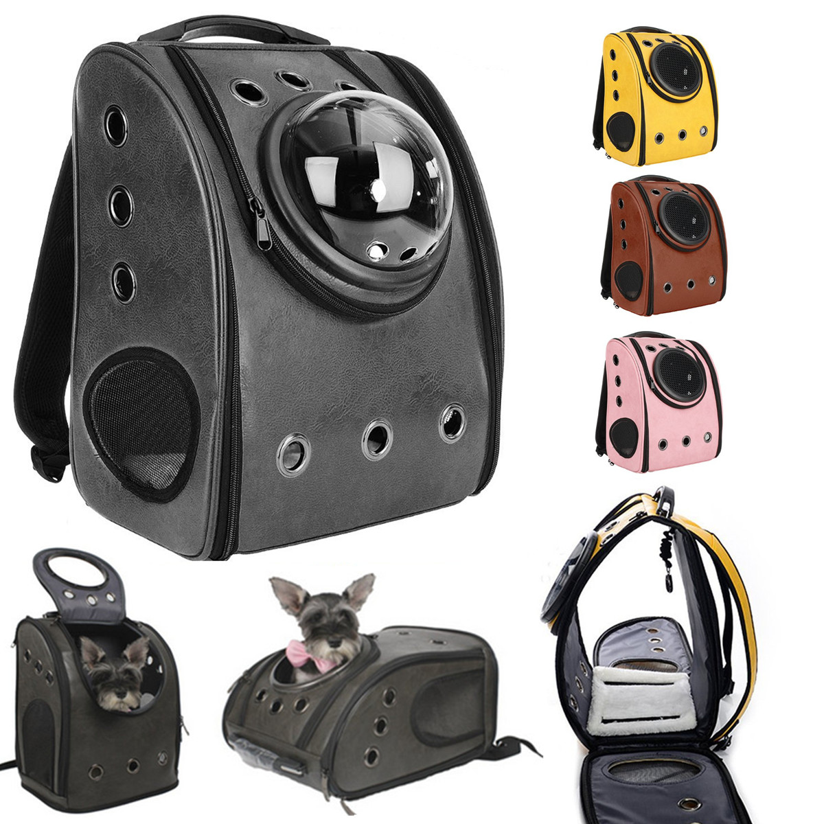 Portable Pet Carrier Space Astronaut Capsule Backpack Pet Bubble Traveler Knapsack Air Vents Waterproof Lightweight Handbag for Cats Small Dogs & Petite Animals
