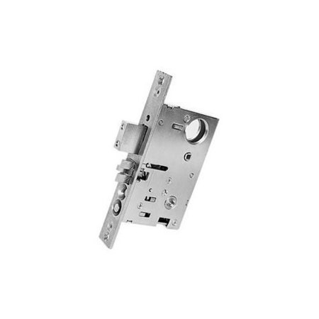 "Baldwin 6065.R Right Handed Emergency and Utility Room Mortise Lock with 2-3/4"", Lifetime Polished Brass"
