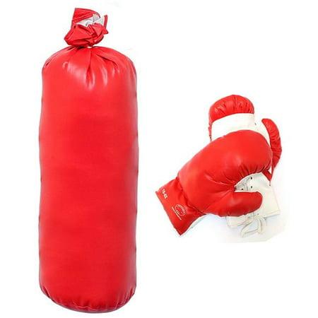 10 oz Boxing Gloves Set with Punching Bag Kids Set Gift