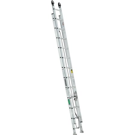 Ladder Fiber - Louisville Ladder 24 ft. Aluminum Extension Ladder with Pro Grip Type II, 225 Lbs Load Capacity, W-2222-24