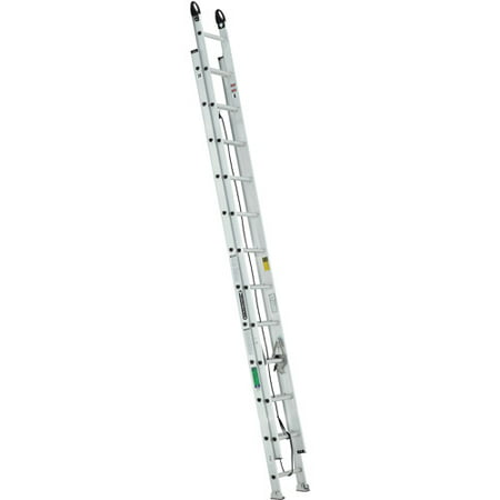 Louisville Ladder 24 ft. Aluminum Extension Ladder with Pro Grip Type II, 225 Lbs Load Capacity, (Low Ladder)