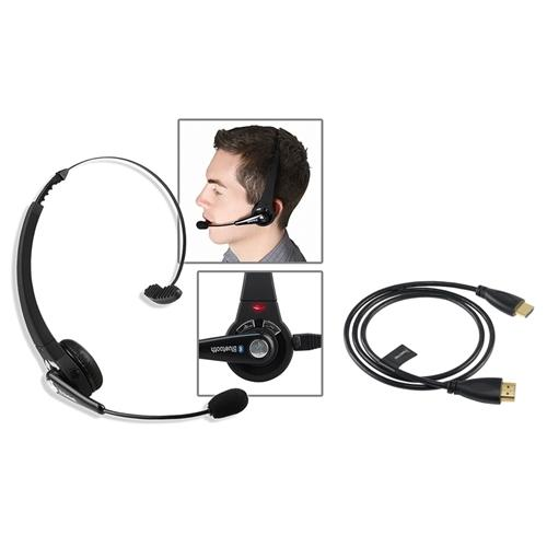 Insten Wireless Bluetooth Headset+3Ft HDMI Cable M/M For Sony Playstation 3 PS3