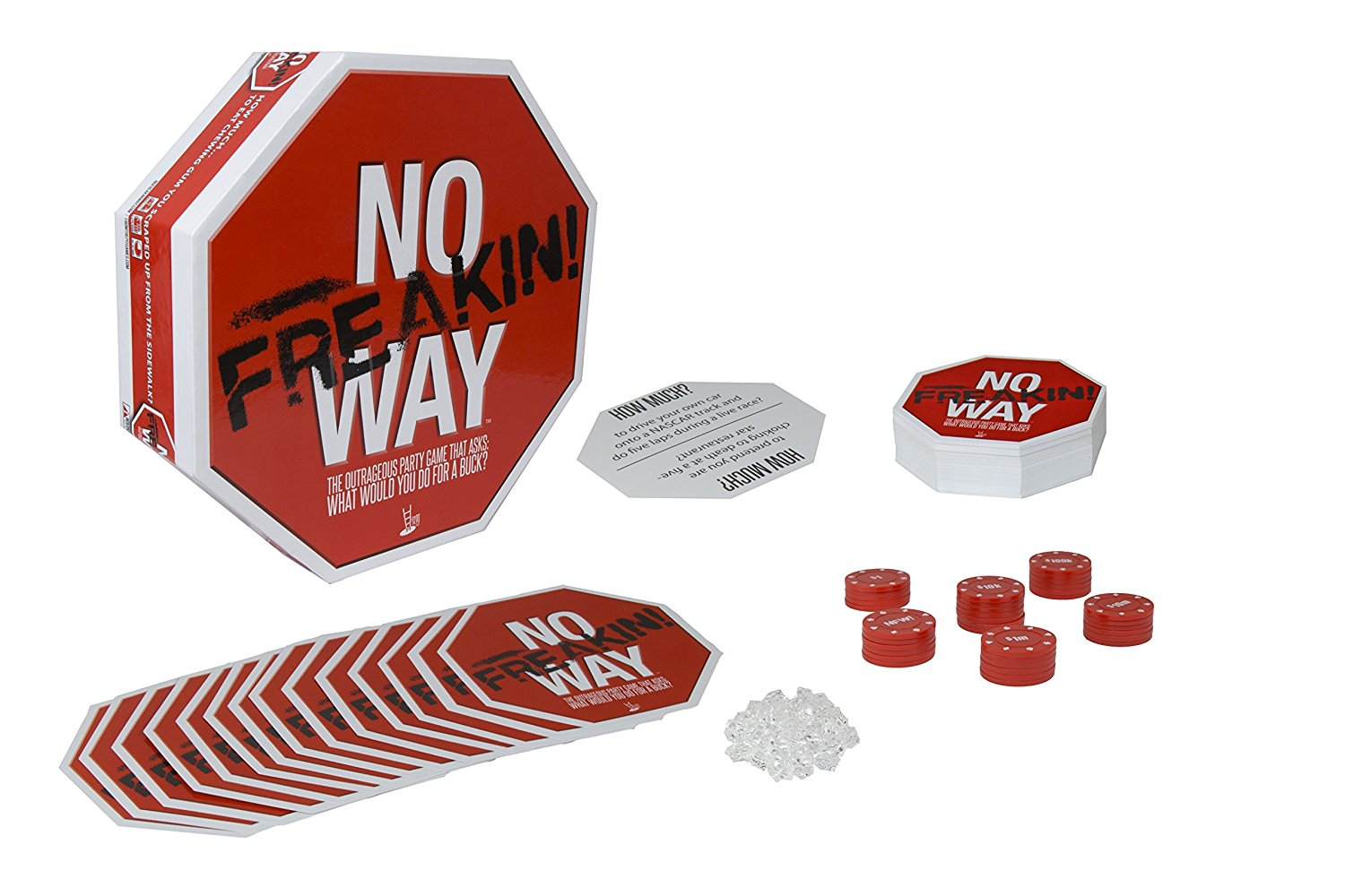 No Freakin Way Game, Comes with Cards, gems, chips and rules By Pressman Toy by