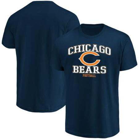 Men's Majestic Navy Chicago Bears Greatness T-Shirt Chicago Bears Stone