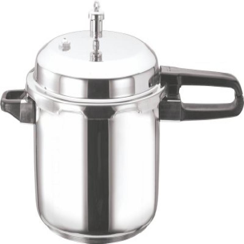 Gandhi - Appliances Vinod V-7L Stainless Steel Sandwich Bottom Pressure Cooker, 7-Liter