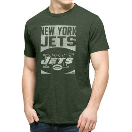 New York Jets 47 Brand Bottle Green Block Logo Soft Cotton Scrum T-Shirt by