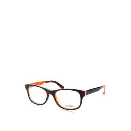 Guess - GU1858, Geometric, acetate, men, HAVANA ORANGE(056), 51/17/140 Orange Havana Sunglasses