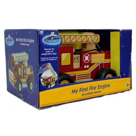 My First Fire Engine Wooden Firetruck, Durable fire engine designed for years of imaginative play. By Imaginarium First Fire Engine