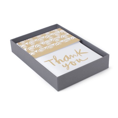 Hallmark Thank You Note Assortment (Gold Foil, 50 Cards and Envelopes) Personalized Jewelry Envelope