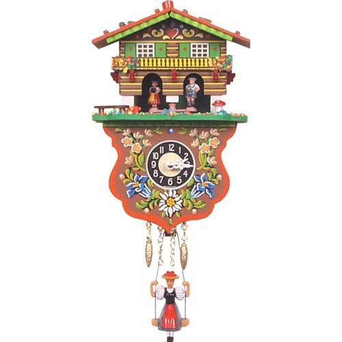Boy and Girl Weather House Cuckoo Clock