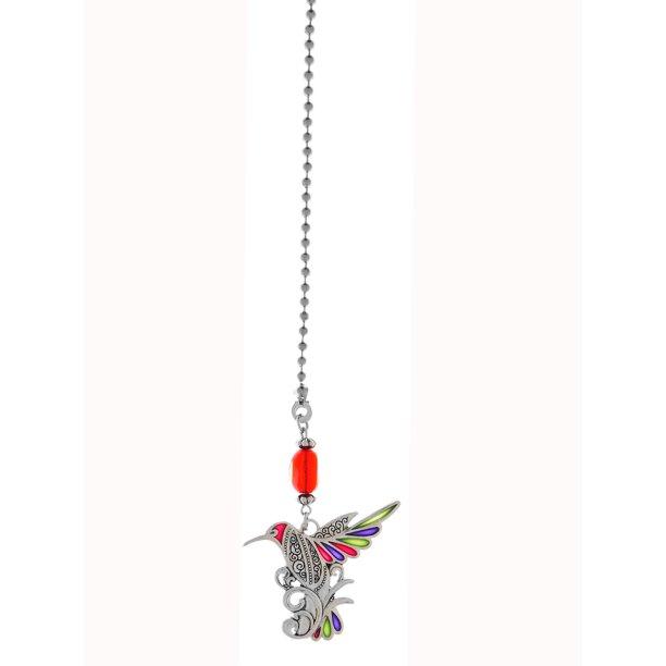 Colorful Hummingbird Fan Pull By Ganz