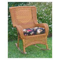 International Caravan San Tropez Aluminum/Wicker Resin High Back Patio Rocker