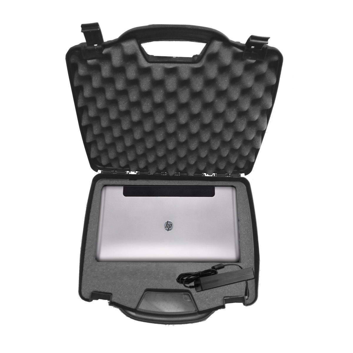 OFFICEFORCE Mobile Printer Hard Travel Case w/ Dense Foam to Carry HP Officejet 100 ( CN551A ) or 200 ( CZ993A )Wireless Printer , Charger , USB Cable , Ink Cartridge and Accessories