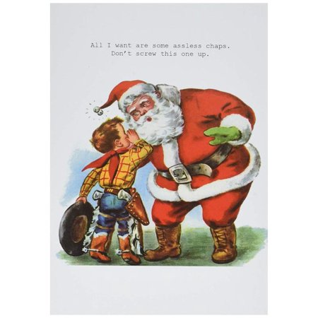 Merry Christmas Wishes Funny.1111 Asless Chaps Funny Merry Christmas Greeting Card With 5 X 7 Envelope