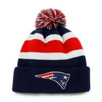 Product Image New England Patriots NFL Men s Breakaway Knit Pom Stripe Navy  Blue Cap Hat Adult a1445674d624
