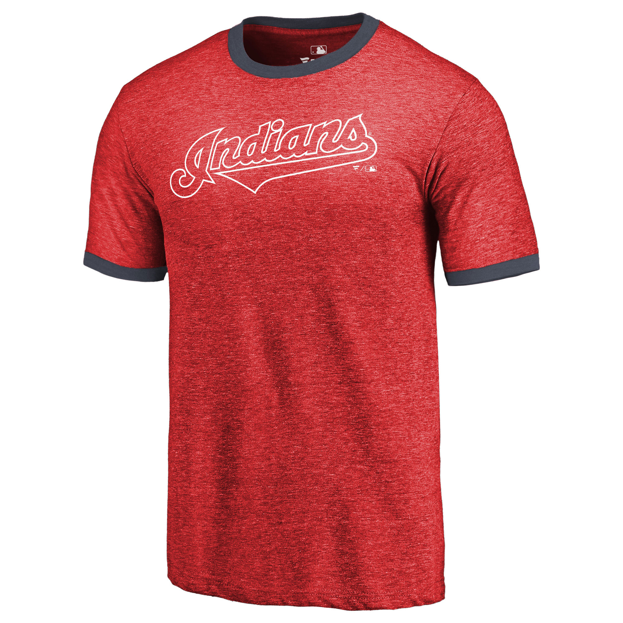 e354fbf3 Cleveland Indians Fanatics Branded Refresh Ringer Team Wordmark T-Shirt -  Red