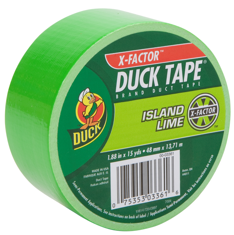 ShurTech Brands, LLC 868089 Duck Tape Colored Duct Tape-NEON LIME DUCK TAPE