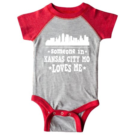 Kansas City Missouri Loves Me Skyline Infant Creeper