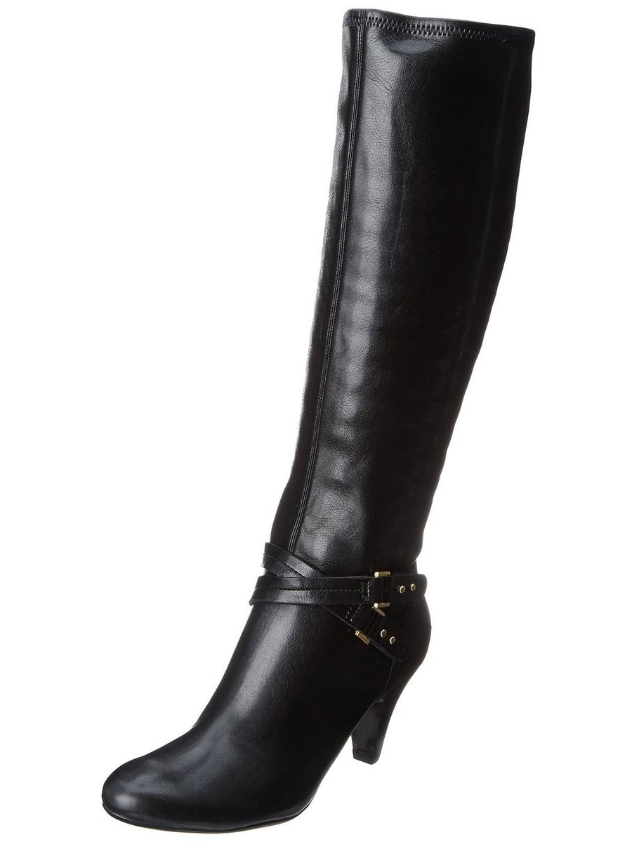Naturalizer Byron Women's Black Riding Boot 7W by Naturalizer