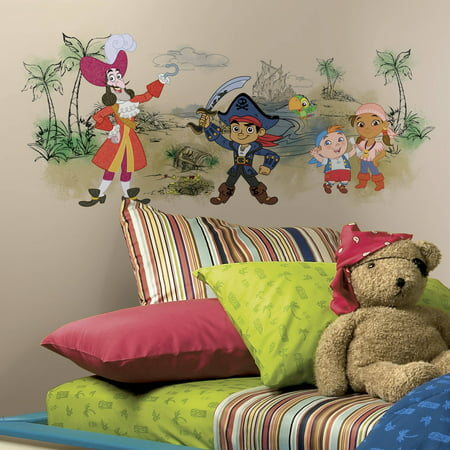 Captain Jake & the Never Land Pirates Scene Peel and Stick Giant Wall Graphic - Captain Jake