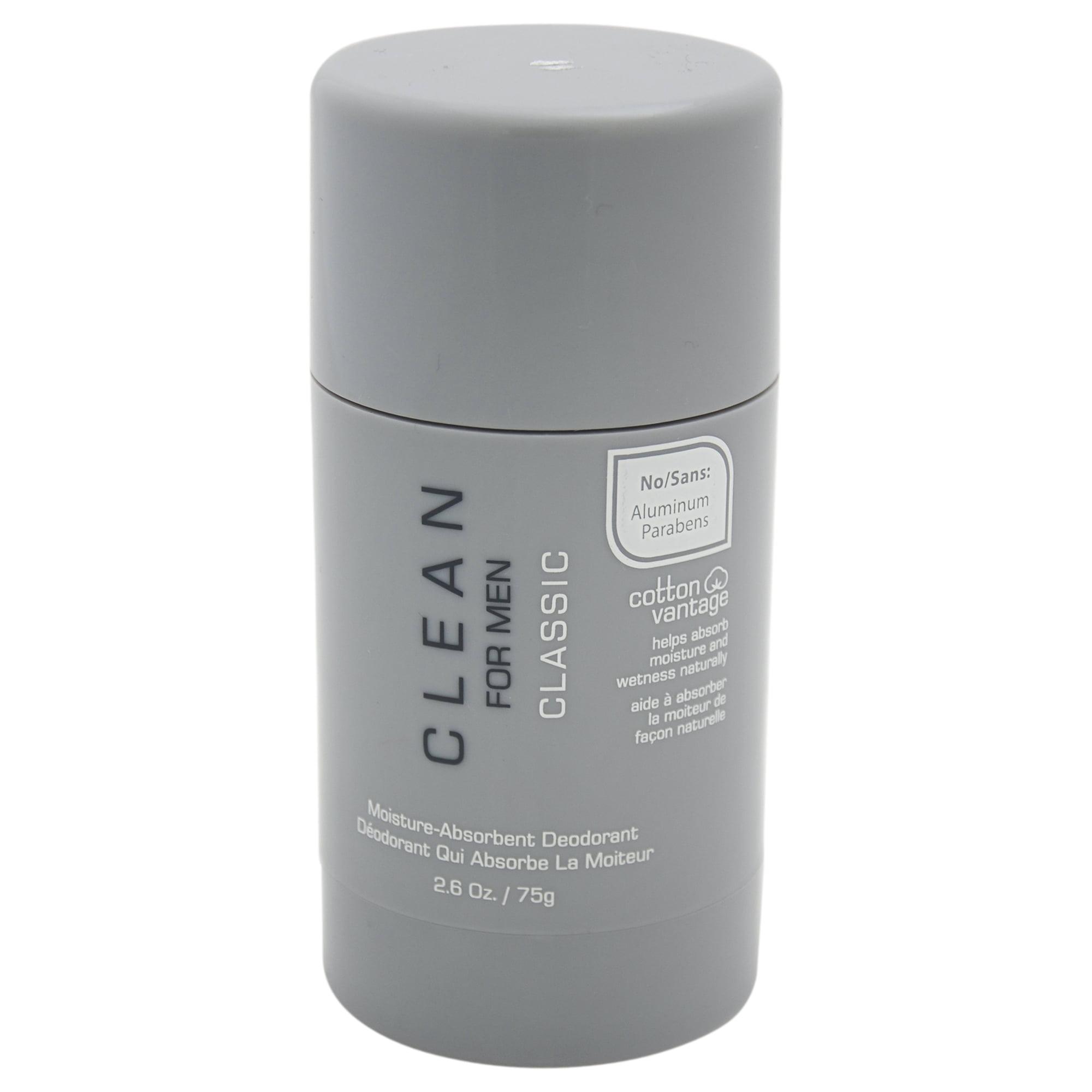 Classic Moisture-Absorbent Deodorant Stick by Clean for Men - 2.6 oz Deodorant Stick