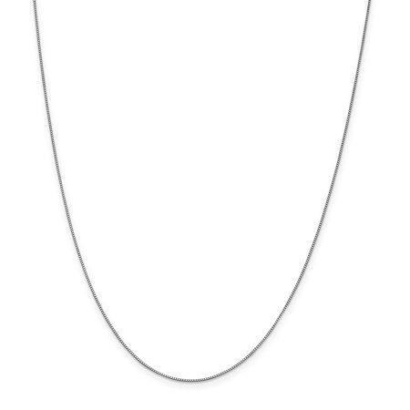 14k White Gold 0.70mm Link Box Chain Necklace Lobster Catch 20 Inch Pendant Charm Gifts For Women For Her