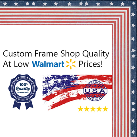 8x10 American Flag Wood Frame - Great for Posters, Photos, Art Prints, Mirror, Chalk Boards, Cork Boards and Marker