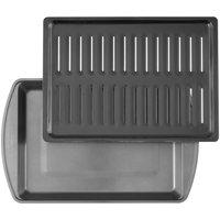 Wilton Perfect Results Premium Non-Stick Bakeware Large Broiler Pan Set, 11.5 x 16 in.