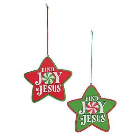 "Oriental Trading IN-13612913 ""Find Joy in Jesus"" Christmas Ornaments ..."