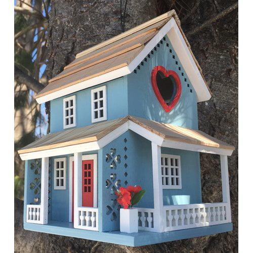 Home Bazaar Lovers Lane Cottage 8 in x 5.5 in x 5.25 in Birdhouse by Home Bazaar