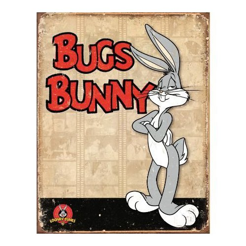 "Bugs Bunny Retro Panels Metal Tin Sign 12.5""w X 16""h Multi-Colored"
