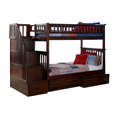 Atlantic Furniture Columbia Bunk Bed with Storage and Stairs