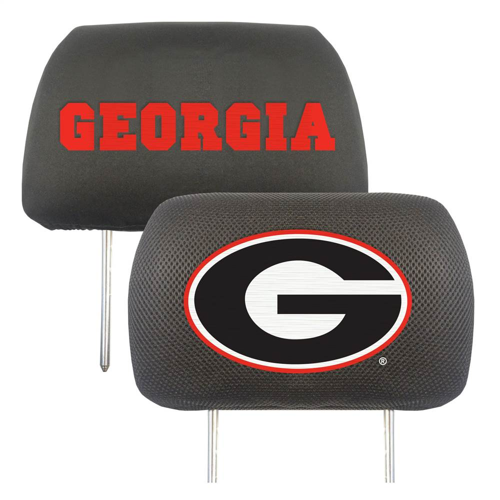 University of Georgia Headrest Covers