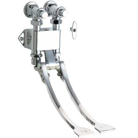 CHICAGO FAUCETS 834-EPABCP Pedal Box, 1/2 In.NPT, w/Extended Pedals ()