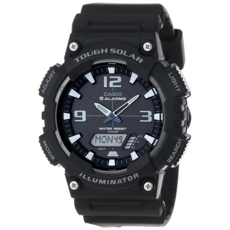 Men's Solar Sport Combination Watch, Black (Solar Casio Watches For Men)