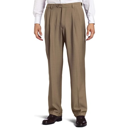 Haggar Men's Repreve Stria Gab Pleat Front Dress Pant,Taupe Stria,44x30 - image 1 de 1