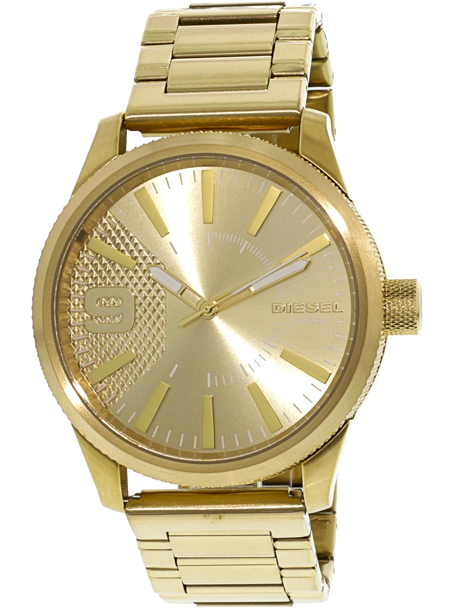Diesel Men's Rasp DZ1761 Gold Stainless-Steel Japanese Quartz Fashion Watch