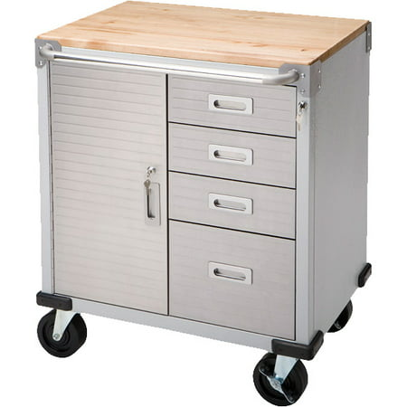 - Seville Classics UltraHD 4-Drawer Rolling Storage Cabinet with Key Lock