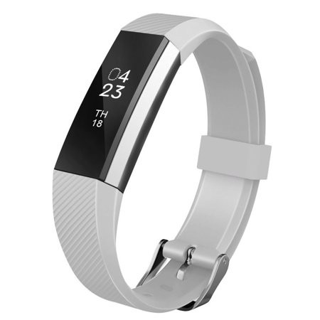 For Fitbit Alta Bands Soft Silicone Replacement Wristband Strap with Metal Buckle