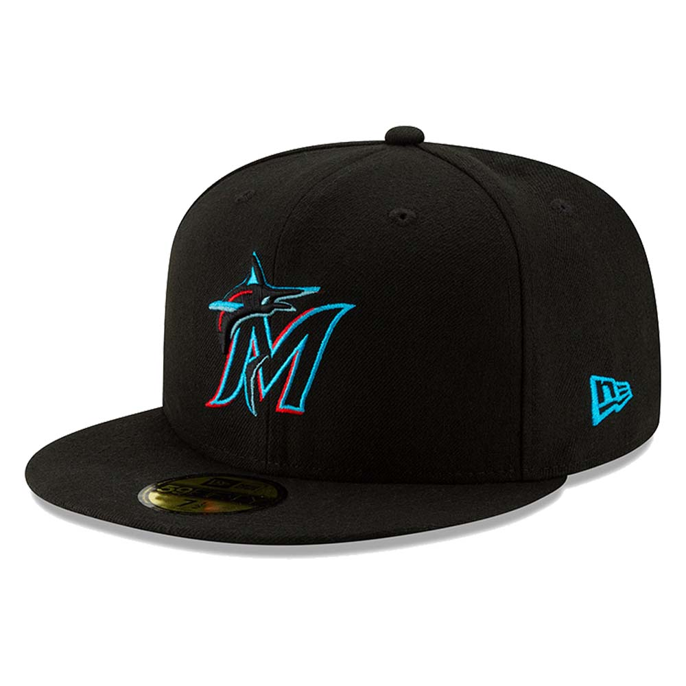 Miami Marlins New Era Youth 2019 Authentic Collection On-Field 59FIFTY Fitted Hat - Black