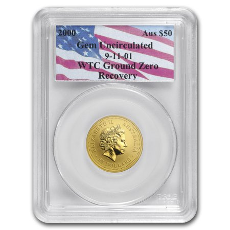 2000 Australia 1 2 Oz Gold Nugget Gem Unc Pcgs  Wtc Ground Zero