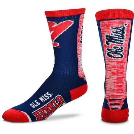 Ole Miss Rebels For Bare Feet Women's Jump Key Crew Socks - M (Ole Miss Rebels Dog)